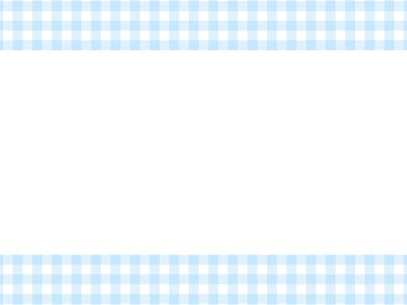 Gingham check top and bottom frame: light blue