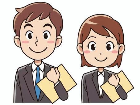 男人和女人與文件訴訟