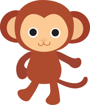 Illustration of a monkey in a bipedal pose