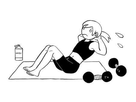 進行肌肉訓練的人