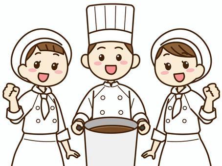 烹飪人員,三個人02