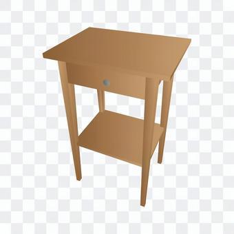 木製邊桌(棕色)