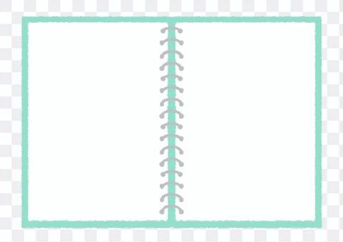 環形筆記本傳播手繪插畫_淺藍色