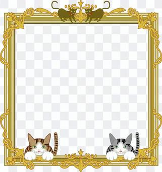圖片框框架貓肉球裝飾框架藝術框架