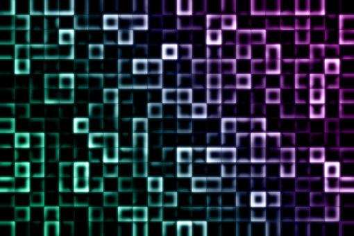[綠色]未來派方形面板[紫色]