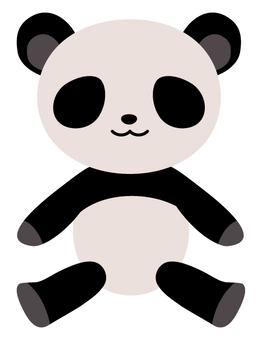 熊猫的毛绒动物