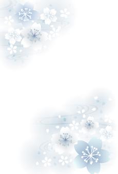 普通版櫻花與流水明信片