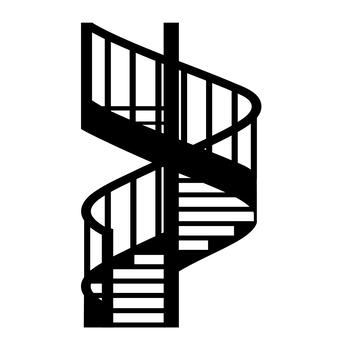 螺旋樓梯圖標
