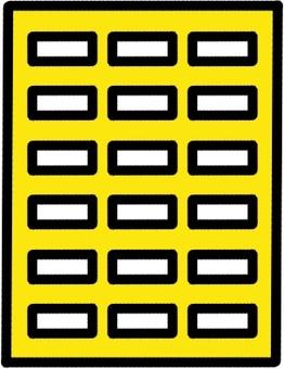 中型公寓大樓圖標標記