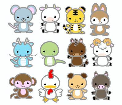 中國十二生肖動物