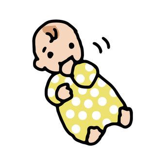 吸吮手指的嬰兒,嬰兒,嬰兒