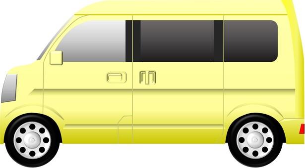 面包车(汽车)黄色