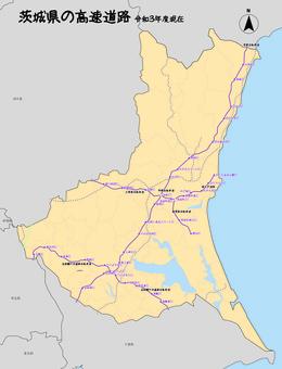 茨城縣茨城高速公路日本地圖