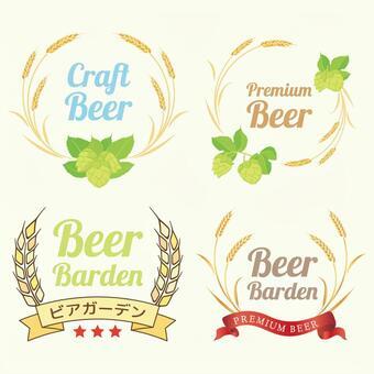 小麥和啤酒花框架集