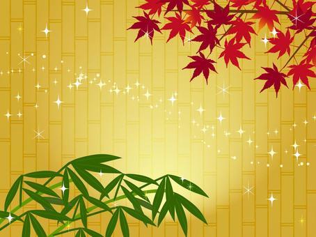 日式秋楓背景楓