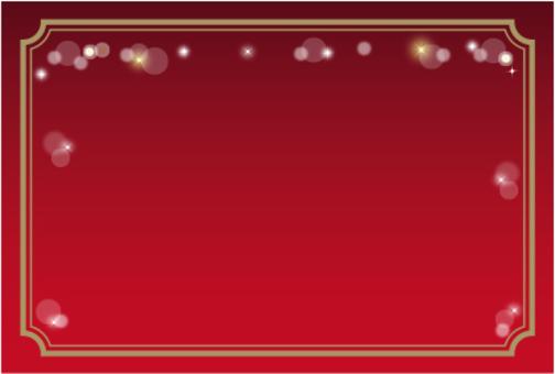 閃光裝飾框架紅色