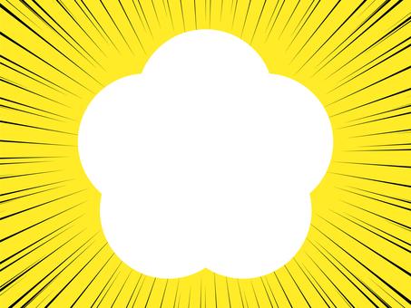 黃色背景上的集中線