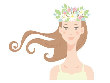 Woman_flower blossom