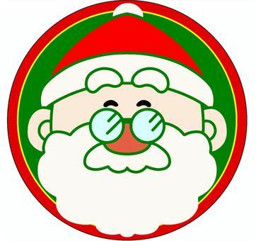 クリスマス サンタクロース表情 顔