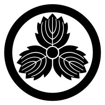 柏紋 원형 악마 세 카시와 일본의 가문