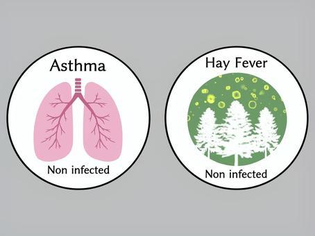 喘息&花粉症マーク