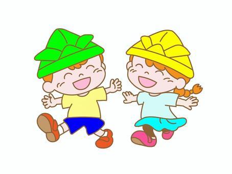兒童節(戴頭盔的兒童)