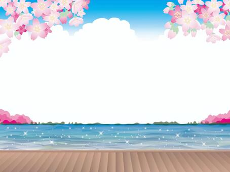 岸邊的甲板(2)春天的櫻花