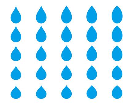 물방울 형태의 세트
