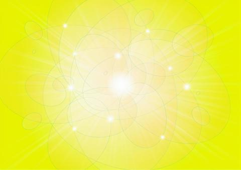 橢圓形的圓球和光線 - 黃色