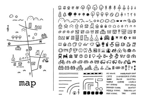 Hand-drawn map <mono>