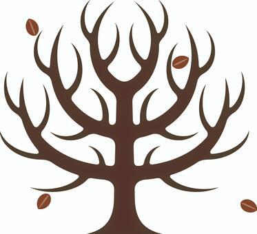 シンボリックな樹木 枯れ木 冬
