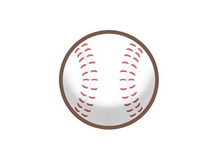 帶線的棒球球圖標