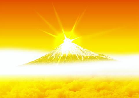 鑽石富士金富士A4大小