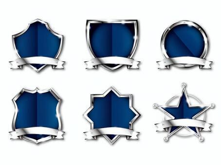 Silver emblem set
