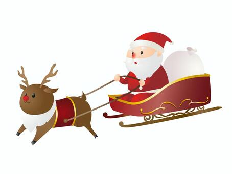 Santa Claus on a Sled