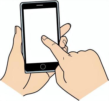A smartphone hand male