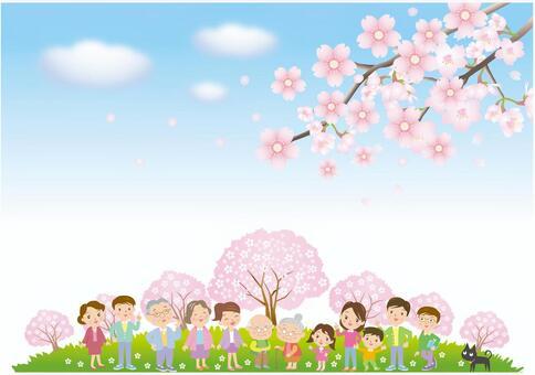 櫻花和享受它的人們