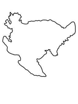 佐賀縣佐賀地圖線描