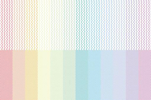 彩虹色設置有鋸齒狀條紋