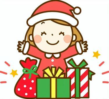 聖誕禮物和女孩