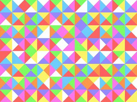 彩色三角形的幾何圖案