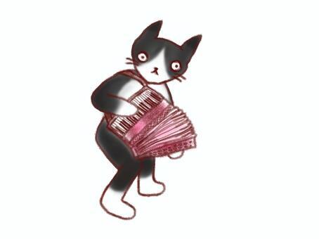 手風琴玩貓