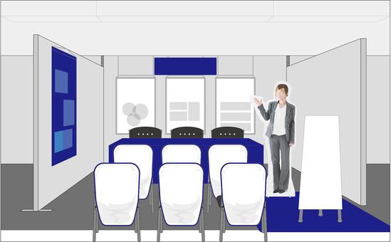 簡報會議攤位圖像自由材料例證