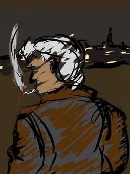 ハードボイルド風 中年男性