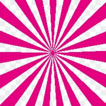 光芒四射的閃光華而不實的粉紅色