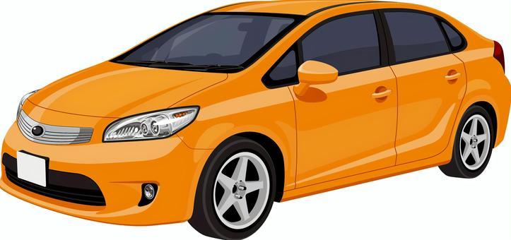 汽車轎車橙色
