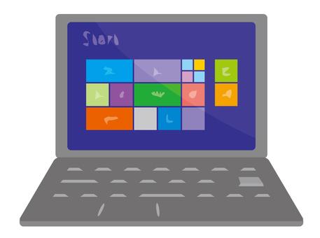 帶筆記本電腦的屏幕2