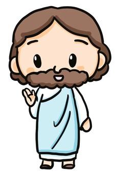 耶穌基督舉起一隻手