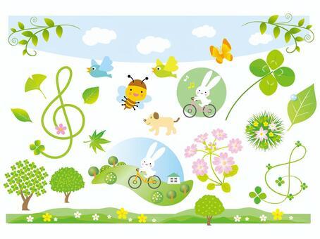 春天的插圖第2部分