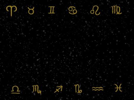 Constellation symbol frame illustration black